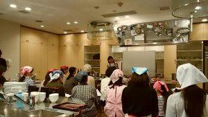 アスリート料理教室出張料理シーン
